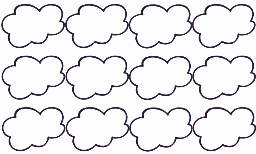 Cloud Template Printable Luxury Free Printable Cloud Template Download Free Clip Art