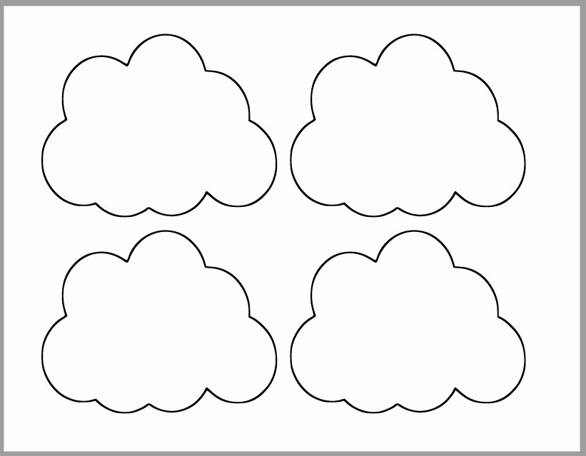 Cloud Template Printable New Printable Cloud Template Baby Shower Decor Spring
