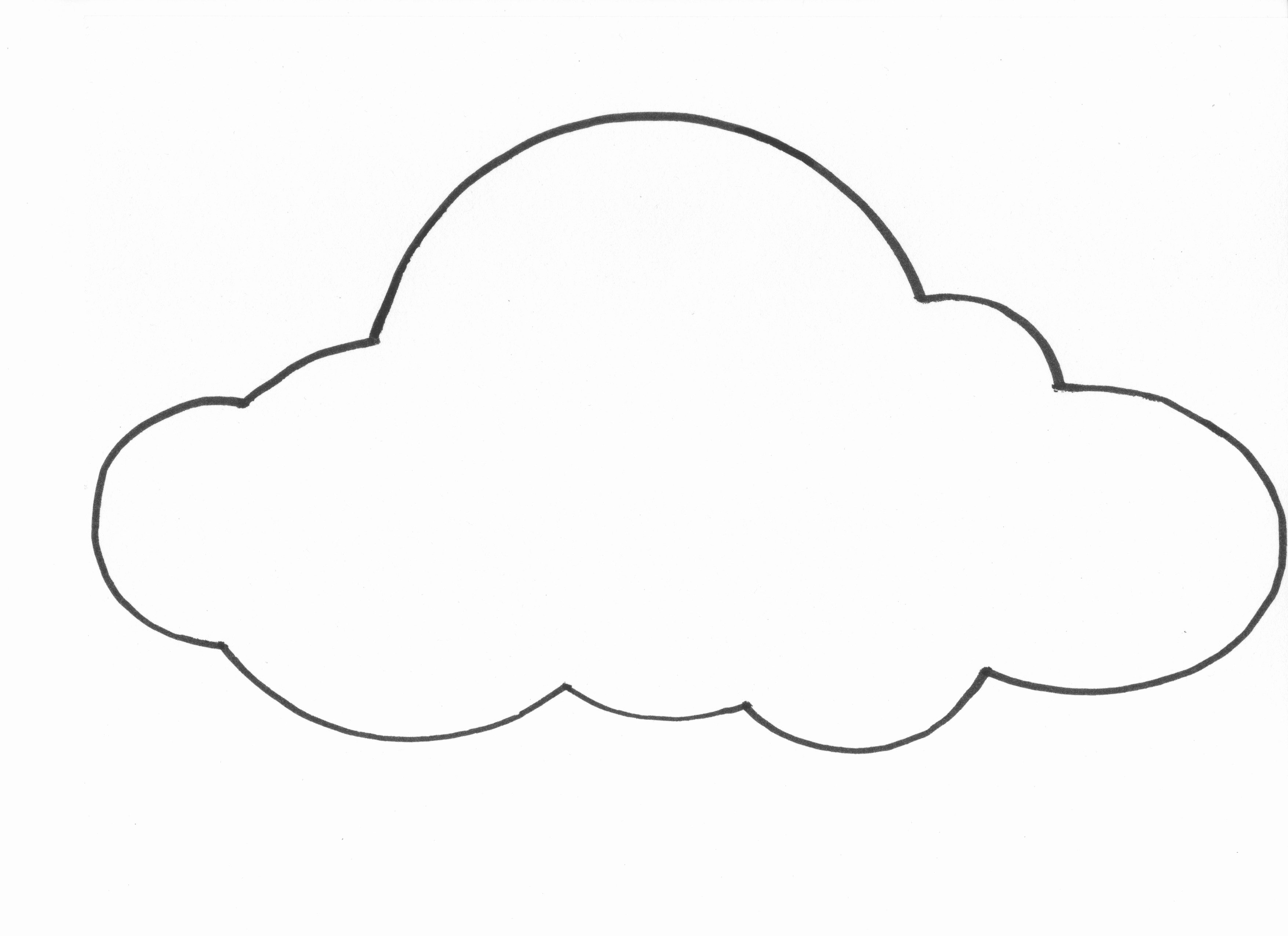 Cloud Template Printable Unique Free Printable Cloud Template Download Free Clip Art