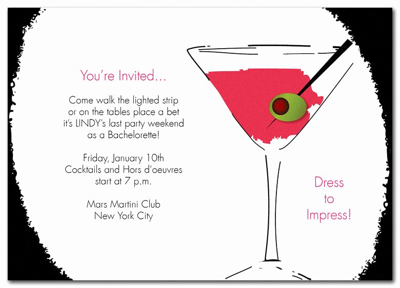 Cocktail Party Invite Templates Beautiful 25th Birthday Invitation Wording