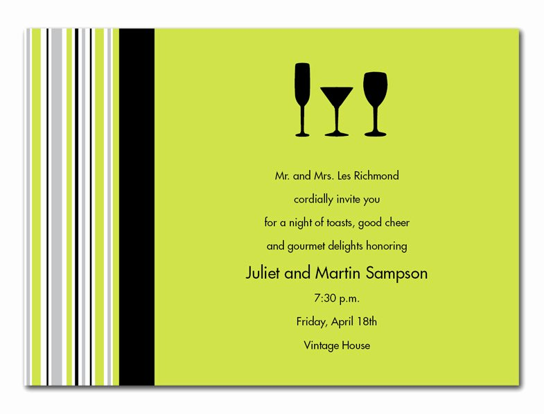 Cocktail Party Invite Templates Fresh Three Cocktails Party Invitations by Invitation