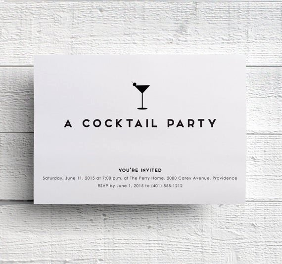 Cocktail Party Invite Templates Lovely Cocktail Party Invitations Bachelorette Party Invitations