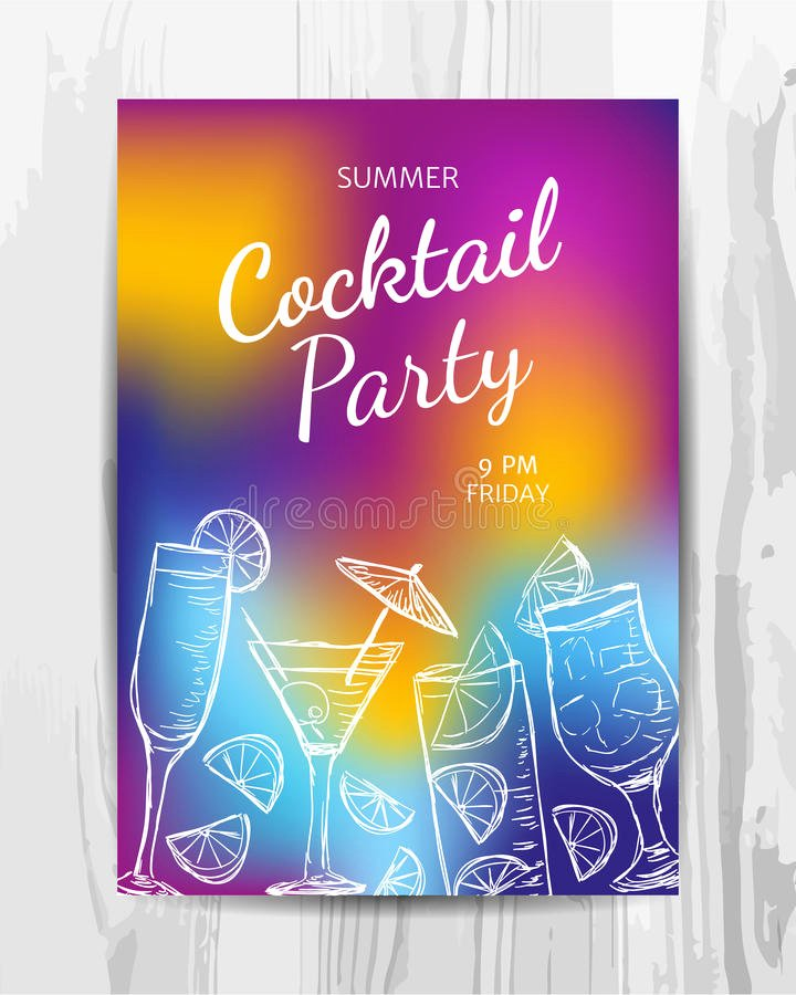 Cocktail Party Invite Templates Luxury Birthday Party Invitation Card Cocktail Party Flyer