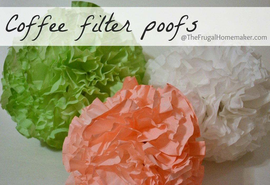Coffee Filter Flowers Martha Stewart Best Of Coffee Filter Poofs Spray Painted In Any Color