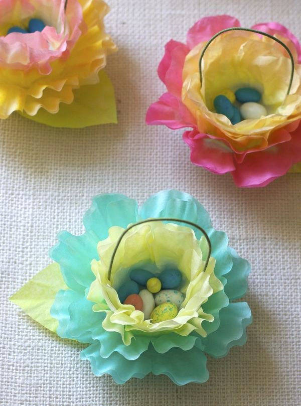 Coffee Filter Flowers Martha Stewart Elegant Coffee Filter Flower & Carrot Easter Favors Urban fort