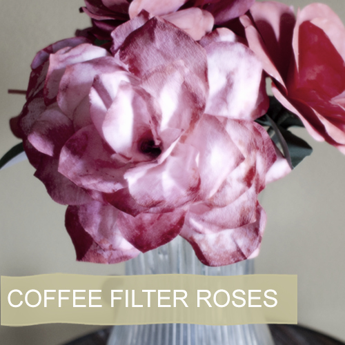 Coffee Filter Flowers Martha Stewart Fresh Coffee Filter Rose Tutorial