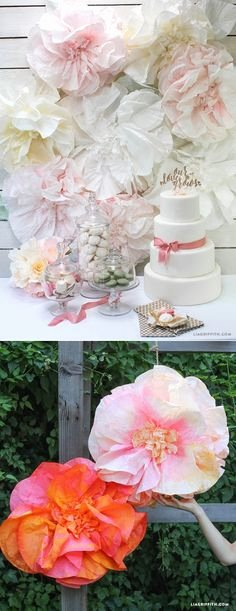 Coffee Filter Roses Template Awesome Tutorial Make Pretty Peonies From Dyed Coffee Filters