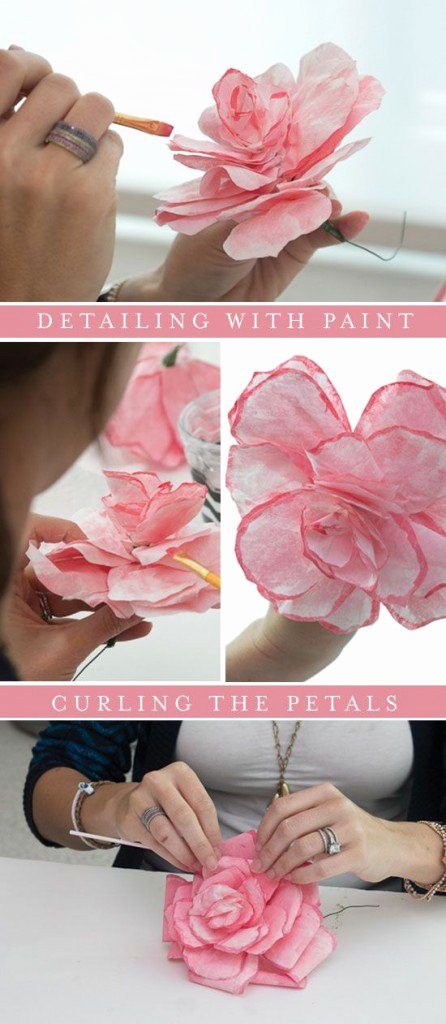 Coffee Filter Roses Template Beautiful Coffee Filters Tutorial Pretty