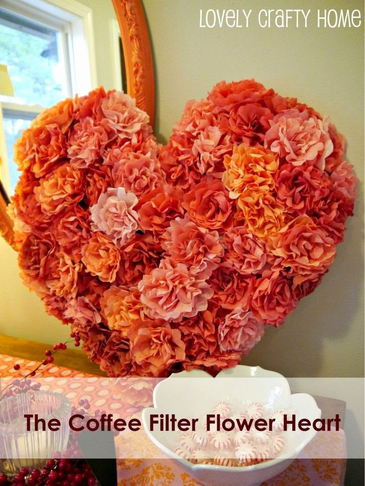Coffee Filter Roses Template Elegant 376 Best Heart Crafts Images On Pinterest