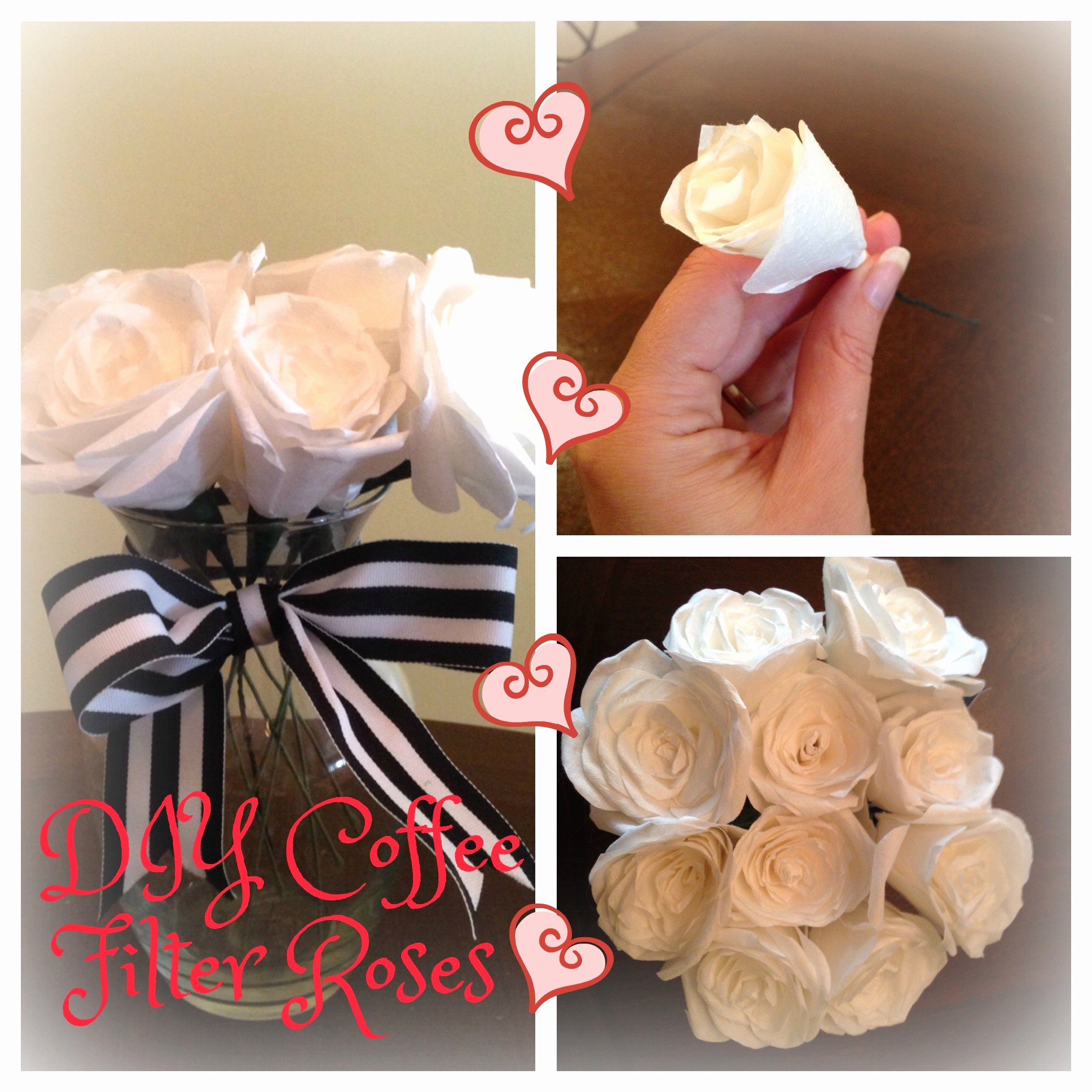 Coffee Filter Roses Template Unique Diy Coffee Filter Roses Becker It Yourself