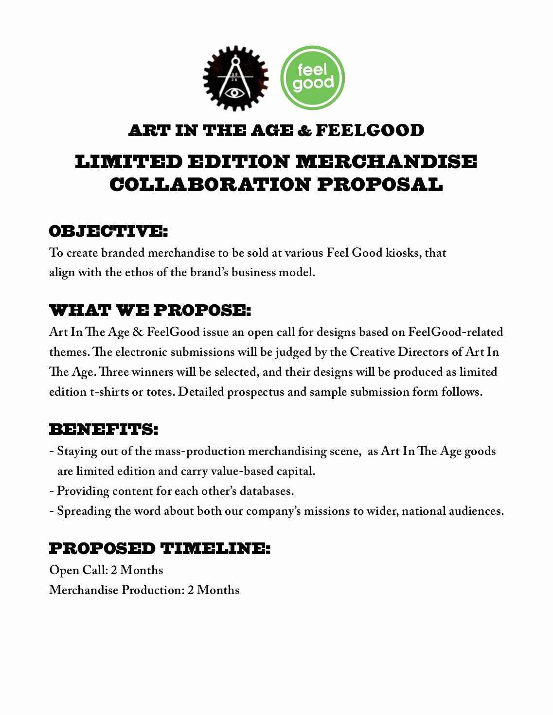 Collaboration Proposal Sample Fresh 1 Free Magazines From Artintheage