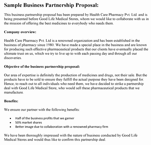 Collaboration Proposal Sample Lovely Business Proposals
