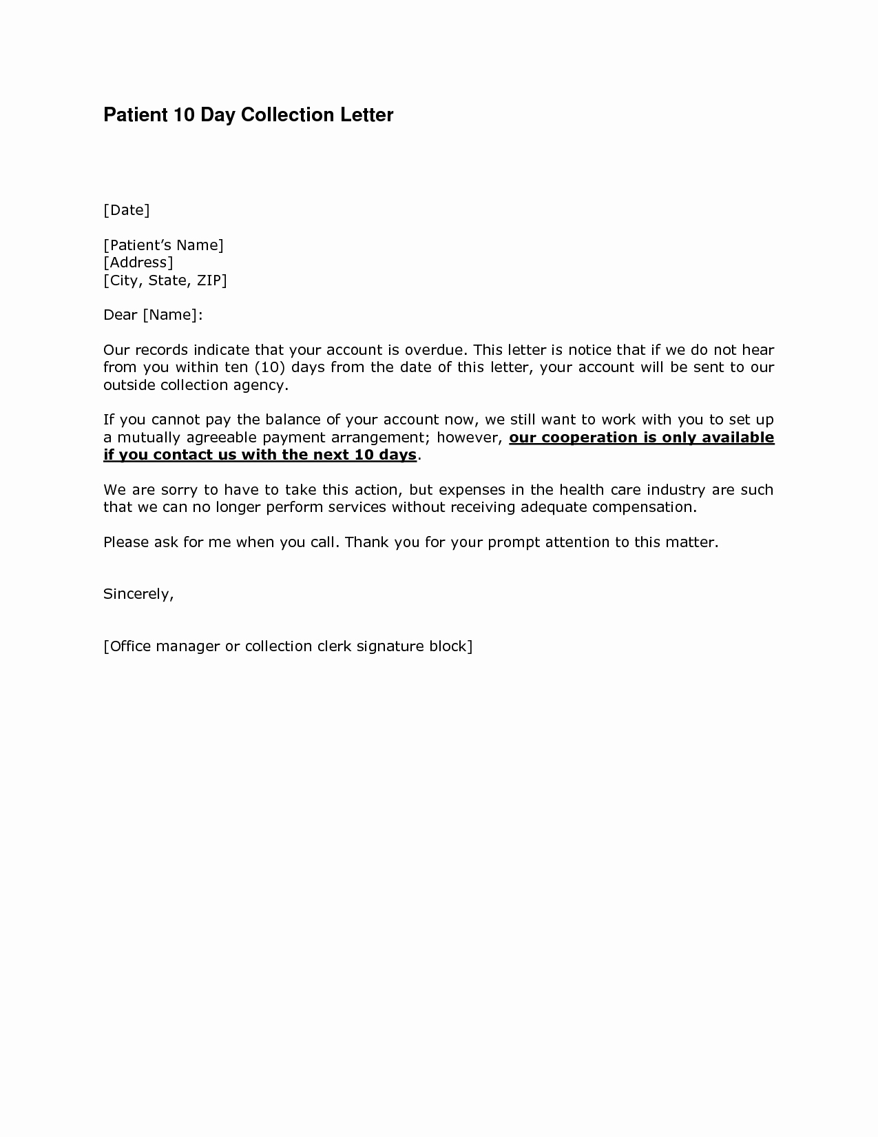 Collection Demand Letter Template Beautiful Best S Of 10 Day Demand Letter Payment Demand