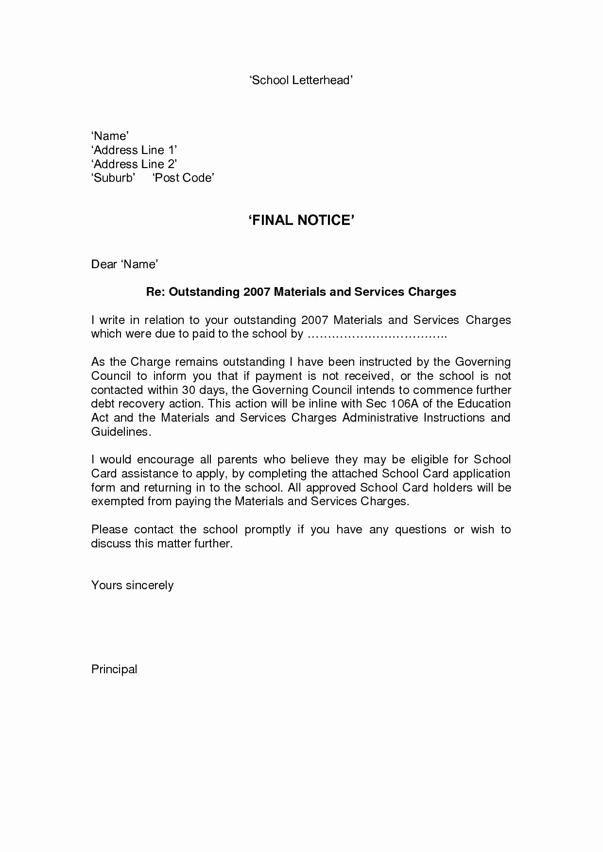 Collection Demand Letter Template Beautiful Second Notice Letters Reverse Search