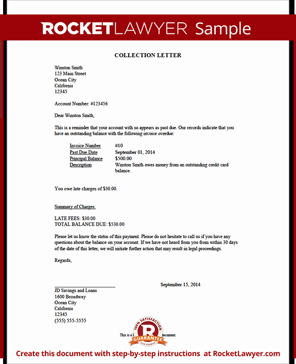 Collection Demand Letter Template Unique Collection Letter Sample Collection Letter Template
