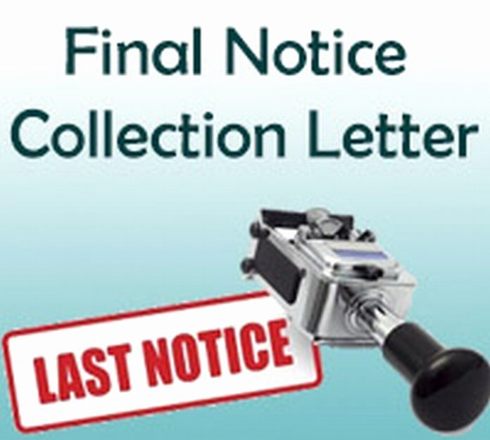 Collection Letter Final Notice Luxury Collection Letter