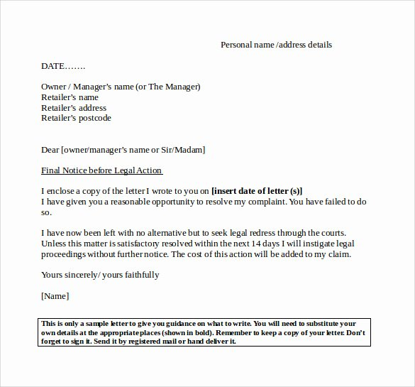 Collection Letter Template Final Notice Fresh Final Notice Letter 7 Documents Download In Pdf Word