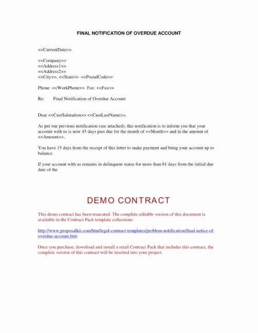 Collection Letter Template Final Notice Lovely Collection Letter Template Final Notice