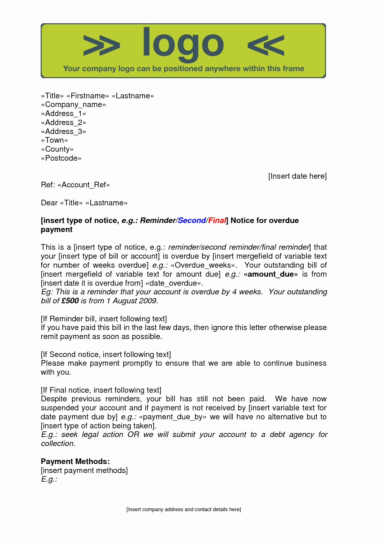 Collection Letter Template Final Notice New Best S Of Final Notice Letter Final Notice before