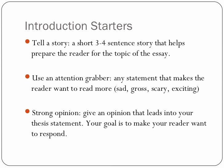 Examples of attention grabbers for essays