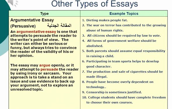 College Essay Hooks Examples Lovely Types Of Essay Writing Great College Essay