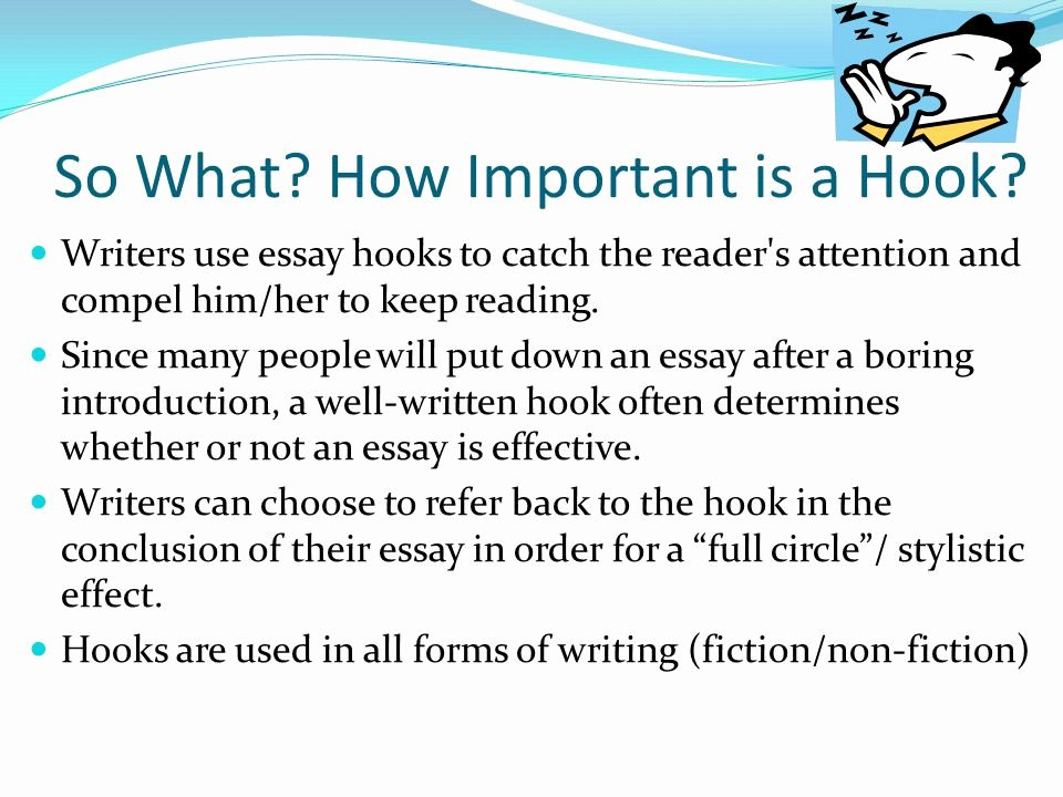 College Essay Hooks Examples New 55 Hook Sentences for Essays attention Grabber Essay