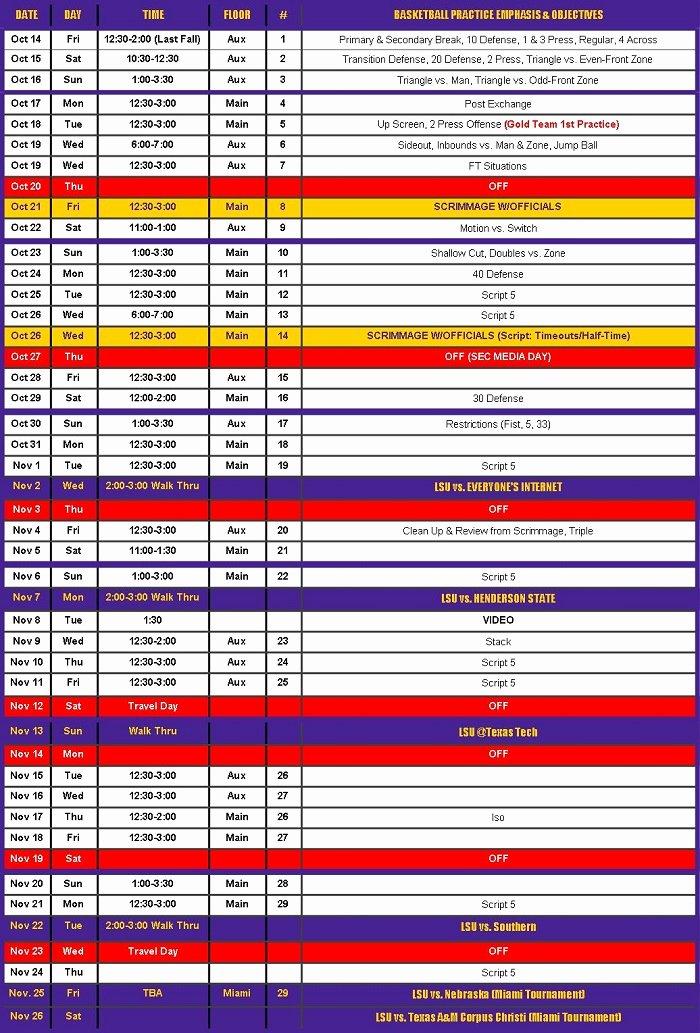 College Football Practice Schedule Template Beautiful 30 Of College Football Practice Plan Template
