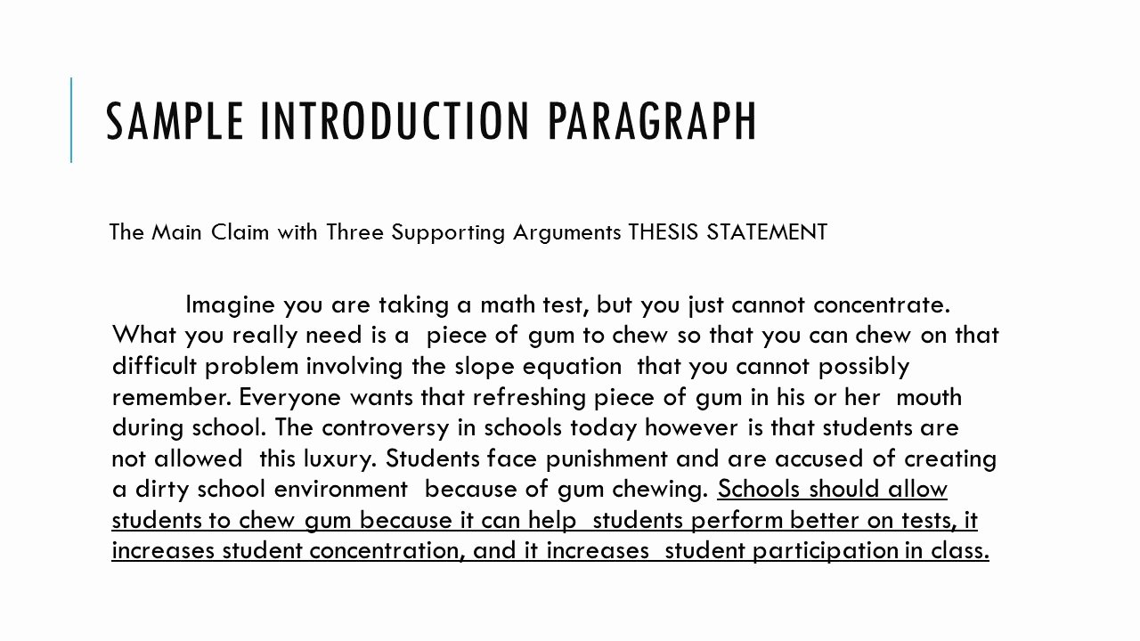 College Introduction Paragraph Examples Best Of Pro Argument Essay Ppt