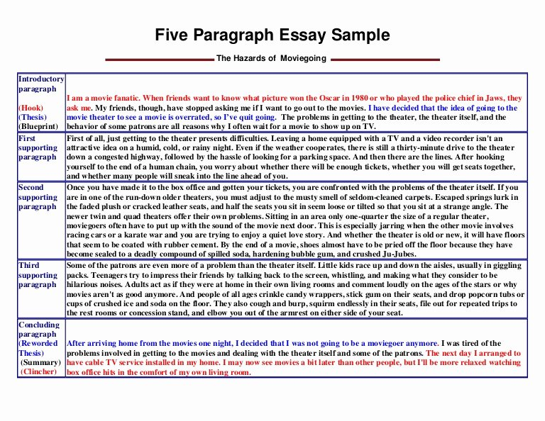 College Introduction Paragraph Examples Luxury Five Paragraph Essay Sample