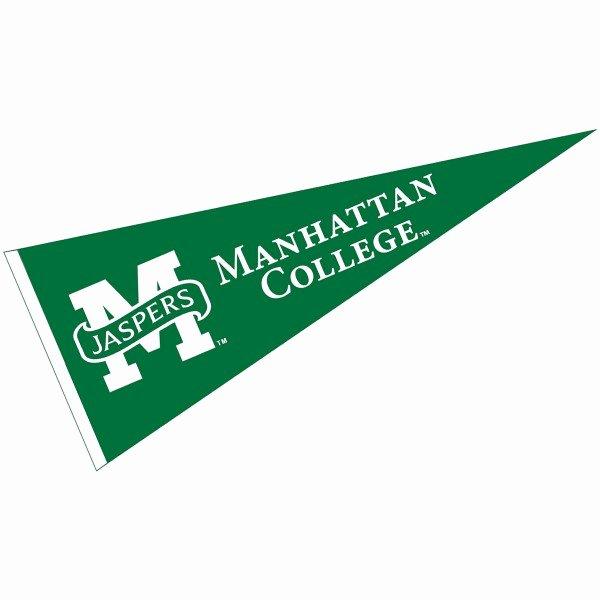 College Pennants Printable Beautiful Manhattan College Pennant Your Manhattan College Pennants