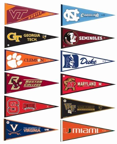 College Pennants Printable Best Of Acc College Pennant Set by College Flags and Banners Co