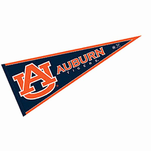 College Pennants Printable Best Of Auburn Tigers Pennant and Pennants for Auburn Tigers