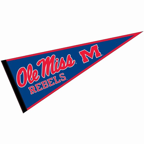 College Pennants Printable Best Of Ole Miss Rebels Logo Pennant and Logo Pennants for Ole
