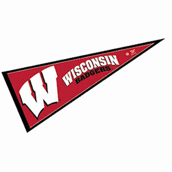 College Pennants Printable Elegant Wisconsin Badgers Pennant and Pennants for Wisconsin Badgers