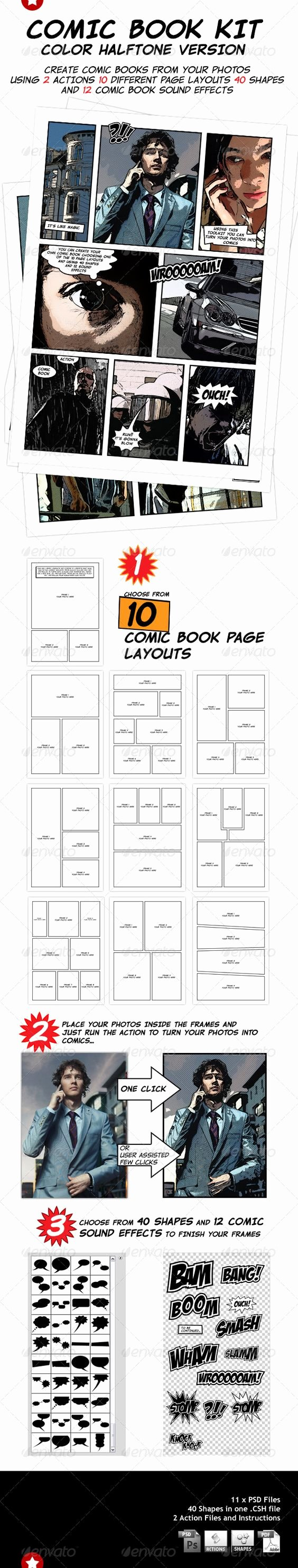 Comic Book Template Photoshop Beautiful You Can Choose From 10 Ic Book Page Layout Templates