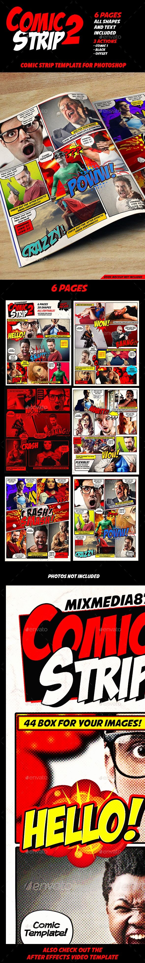 Comic Book Template Photoshop Inspirational 1000 Images About Shop Files On Pinterest