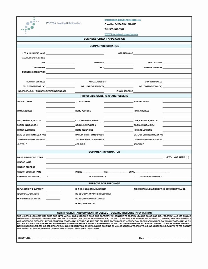 Commercial Credit Application New Mercial Credit Application