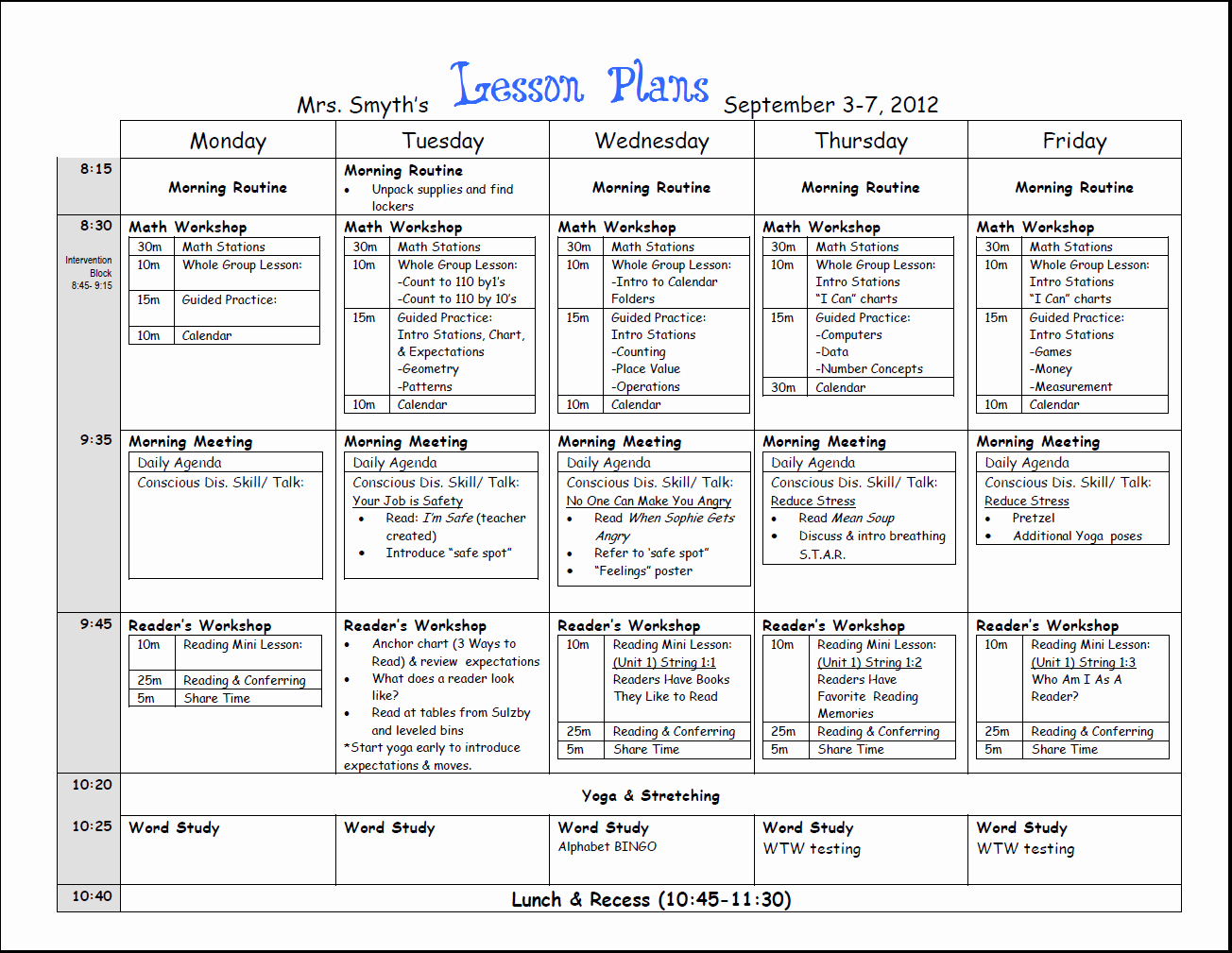 Common Core Lesson Plan Template Doc Fresh Free Weekly Lesson Plan Template and Teacher Resources