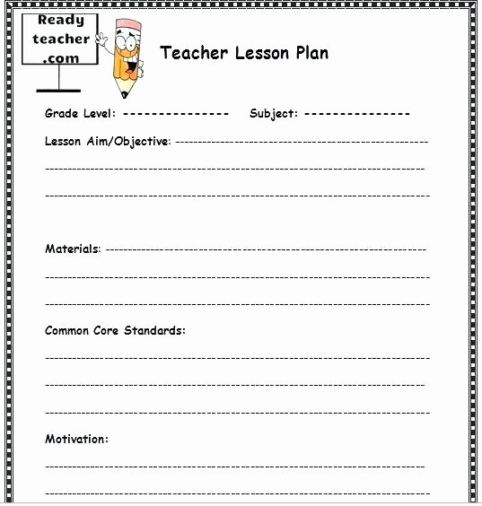 Common Core Lesson Plan Template Doc New Editable Mon Core Lesson Plan Template – Lesson Plan