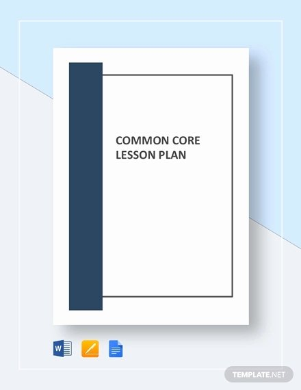 Common Core Lesson Plan Template Doc Unique 9 Mon Core Lesson Plan Template Pdf Doc