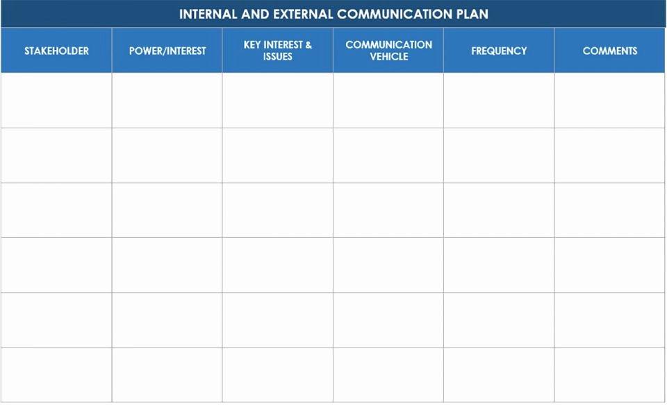 Communication Matrix Template Awesome Free Munication Strategy Templates and Samples