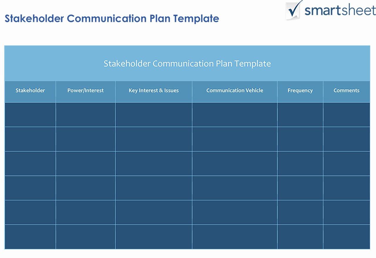 Communication Matrix Template Beautiful How to Create A Stakeholder Management Plan Smartsheet