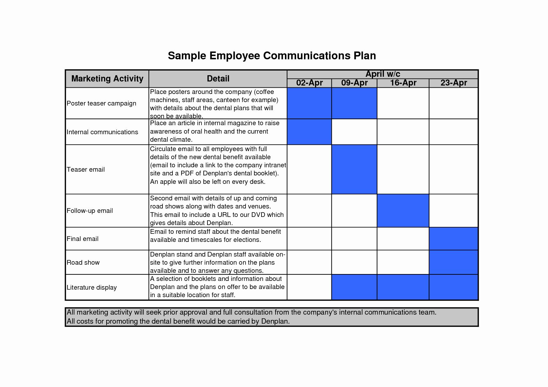 Communication Matrix Template New Munication Plan Template