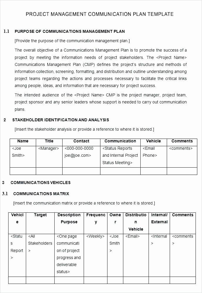 Communication Matrix Template Unique Stakeholder Matrix Template Excel – Sanissimofo