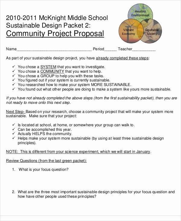 Community Project Proposal Beautiful School Project Proposal Templates 10 Free Word Pdf