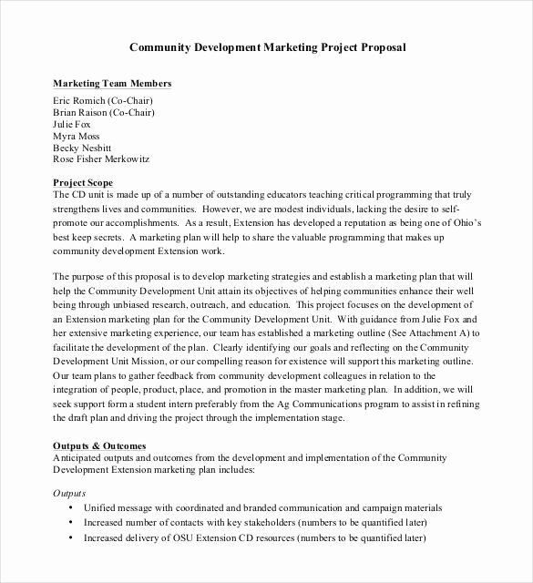 Community Project Proposal Best Of 47 Project Proposal Templates Doc Pdf