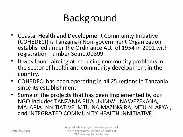 Community Project Proposal New Sample Of A Munity Development Project Proposal Writing