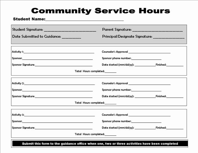 Community Service Paper Pdf Luxury Munity Service form College Homework Help and Line