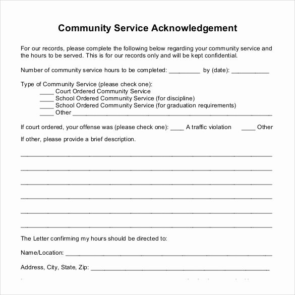 Community Service Paper Pdf New Sample Munity Service Letter 25 Download Free