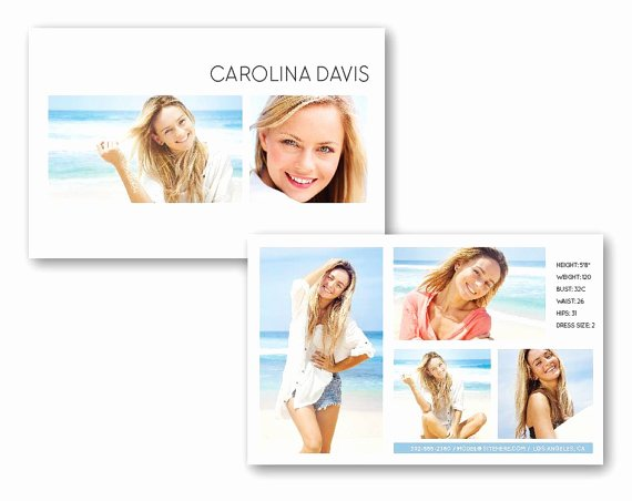 Comp Card Template Psd Download Beautiful Customizable Digital Model P Card Beach Beauty Model